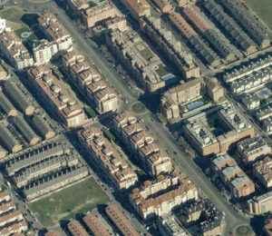 Vista aérea del barrio de El Ensanche