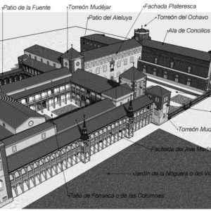 Recreación del desaparecido Palacio Arzobispal (Dibujo de Abraham Consuegra Gandullo)