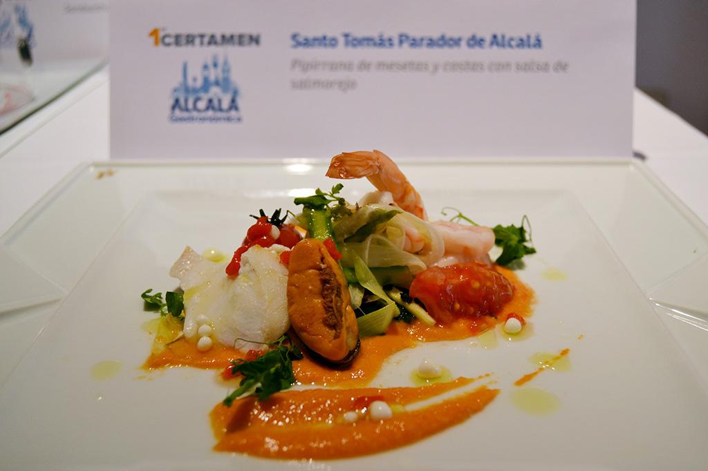 Plato finalista I Certamen Alcalá Gastronómica - Santo Tomás Parador