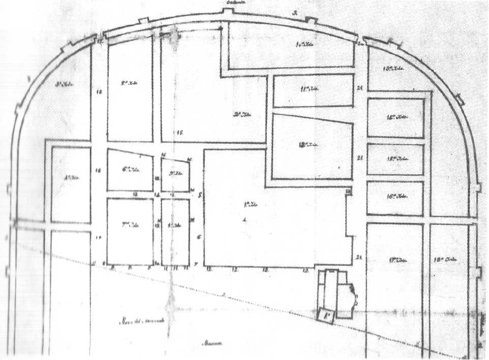 Ciudad Universitaria División en yslas de la zona universitaria en 1564
