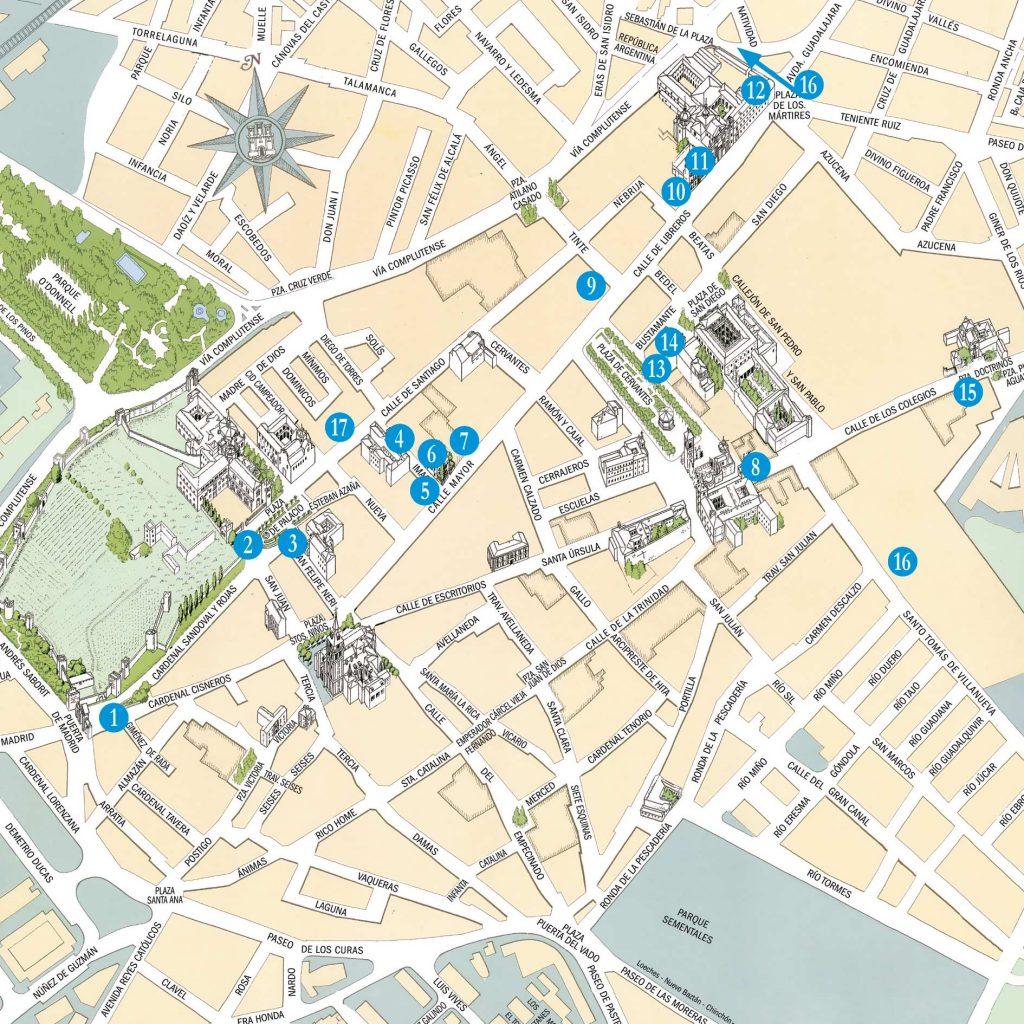 Mapa-ruta-literaria-de-Alcalá-de-Henares