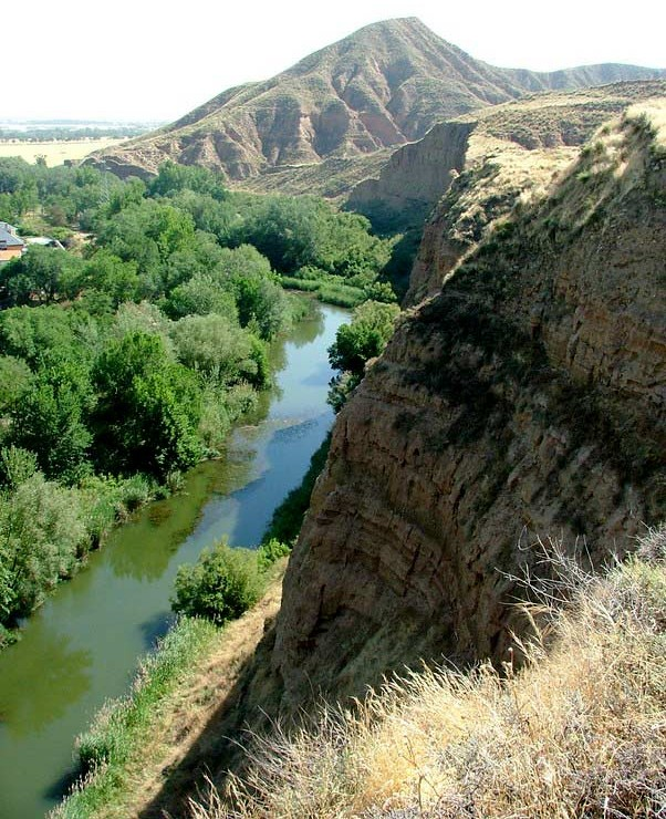 Vista río Henares desde el parque de Los Cerros de Alcalá