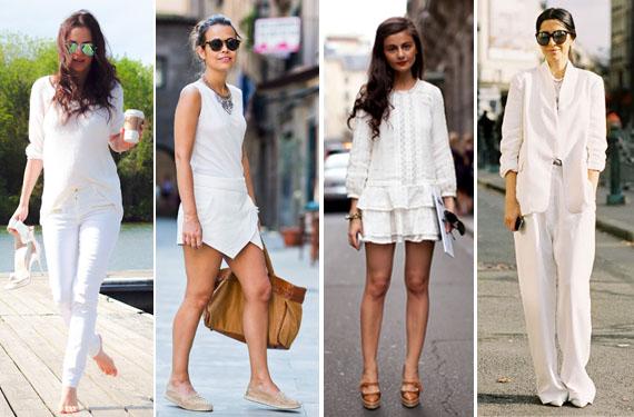 Vestidos blancos casuales de playa