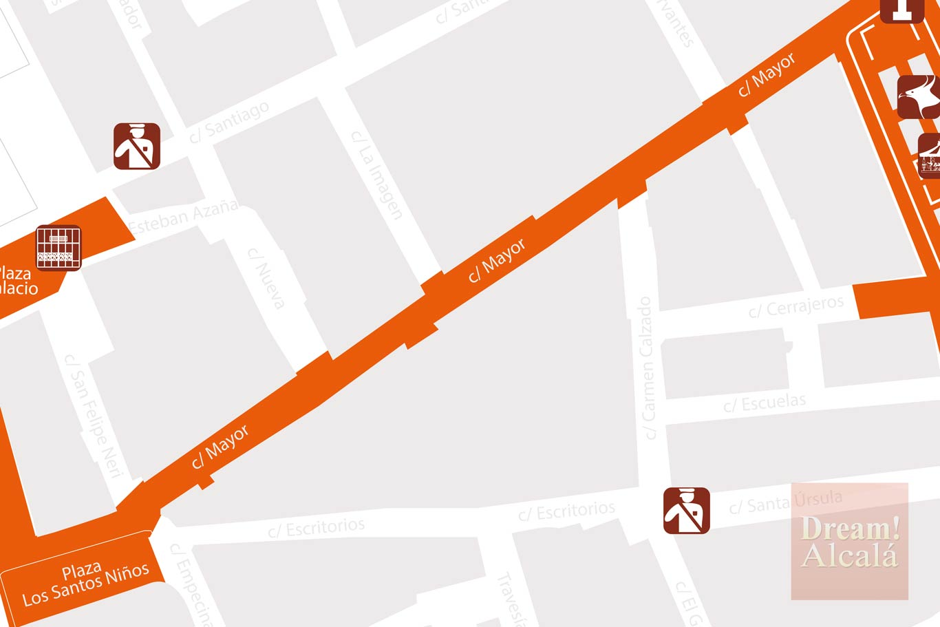 Plano Mercado Cervantino 2017 de Alcalá de Henares