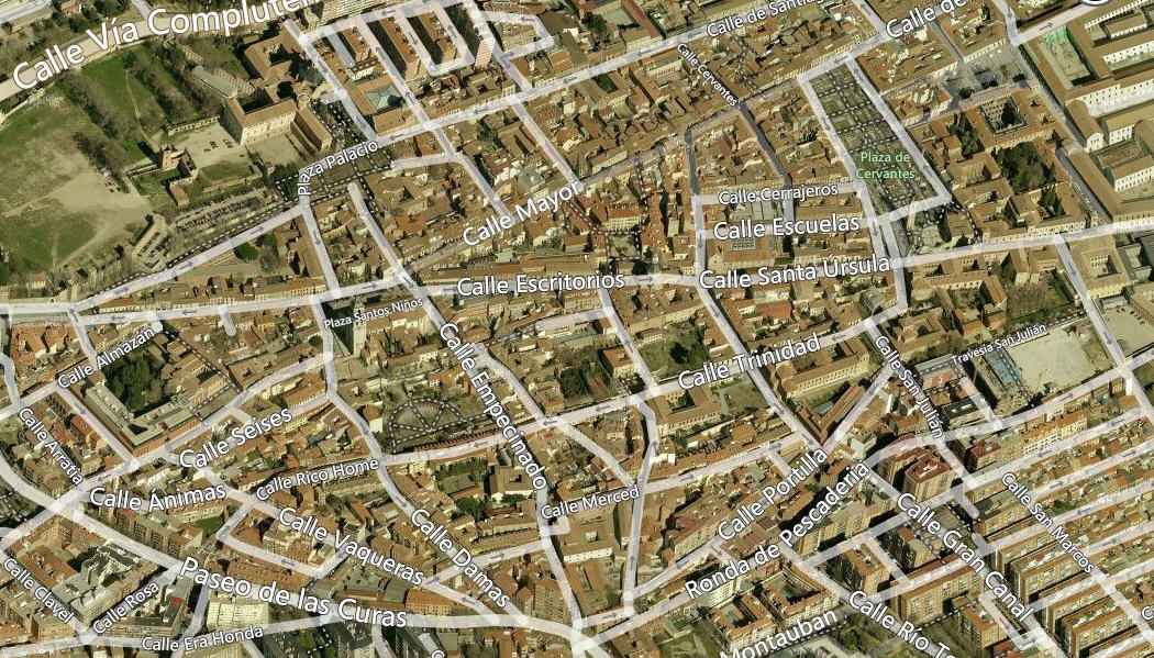 Alcalá de Henares desde el aire - zona centro