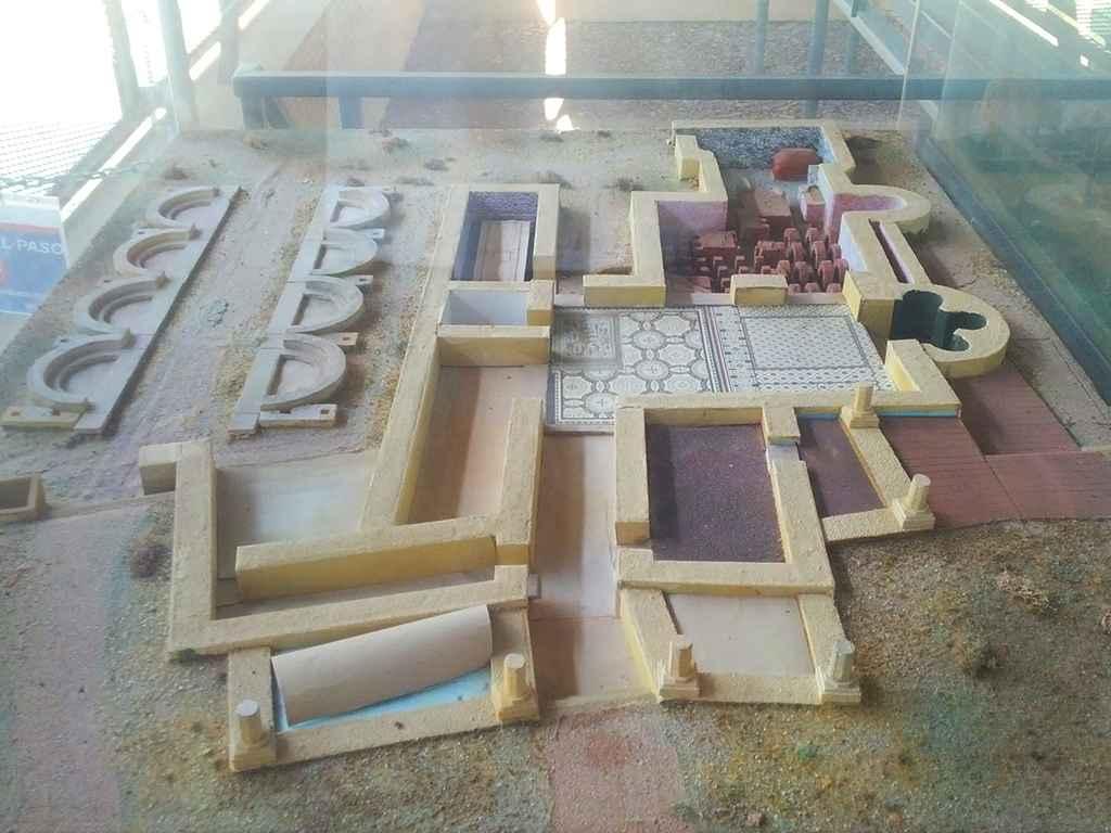 Casa de Hippolytus - Maqueta del yacimiento