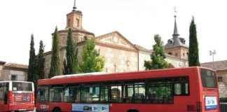 Autobús en la Plaza de Cervantes