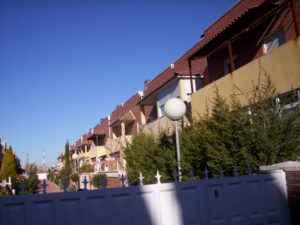 Vivienda adosadas en el barrio de El Ensanche