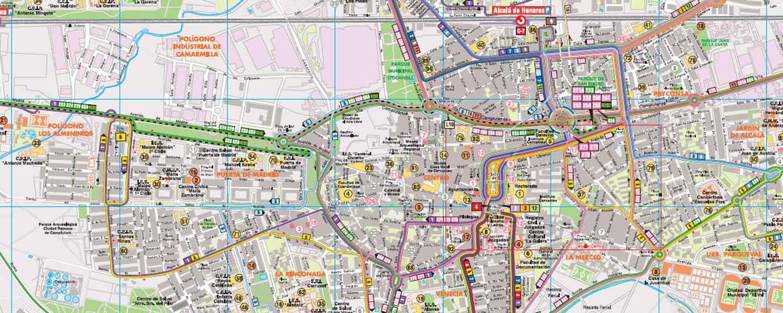 Plano de transportes de madrid y alcal de henares 2015 for Codigo postal del barrio de salamanca en madrid
