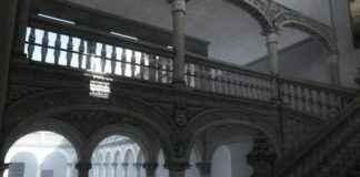 Recreación de la Escalera de Covarrubias desde el primer rellano
