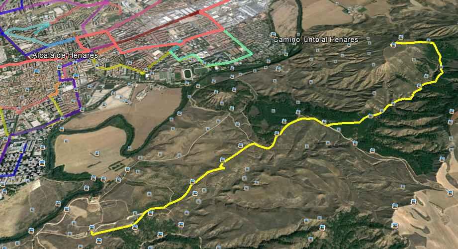Ruta amarilla hasta el cerro del Hecce Homo - Google Earth
