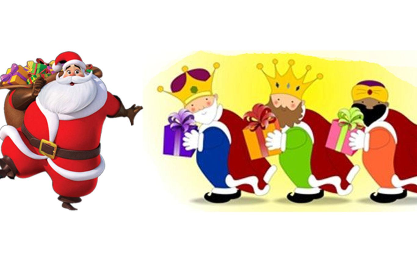 Fotos Papa Noel Reyes Magos.Santa Claus Vs Los Reyes Magos Dream Alcala