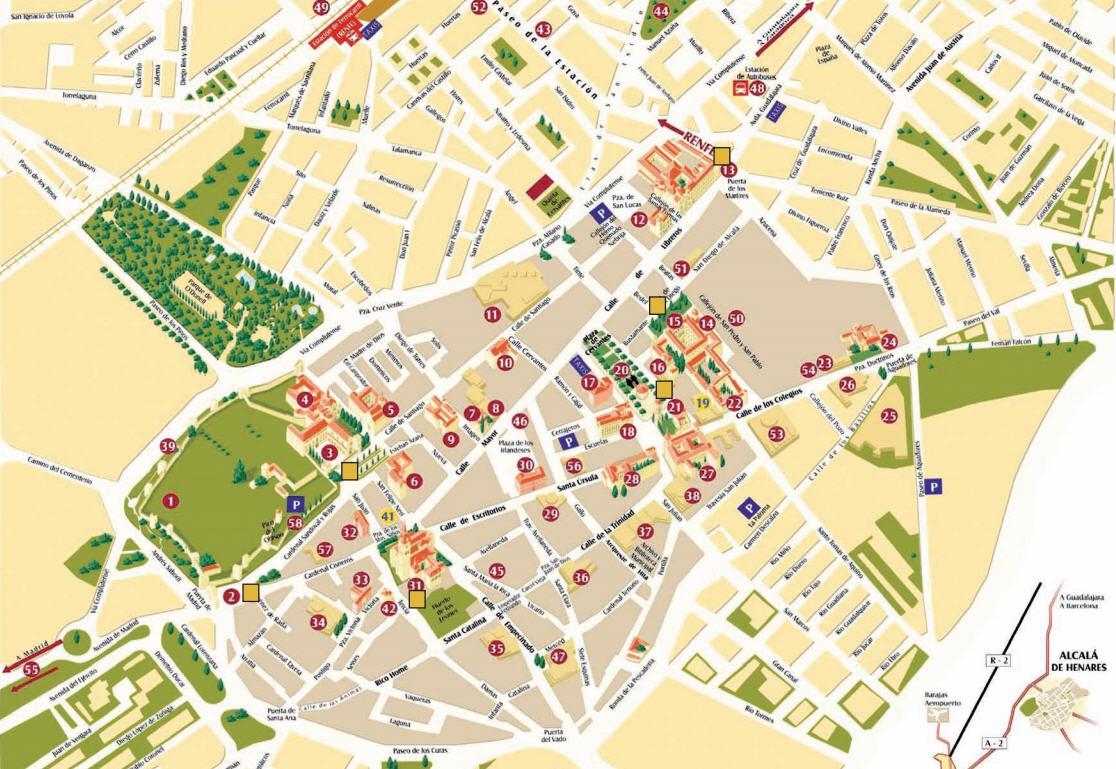 Planos y guas tursticas de Alcal de Henares  Dream Alcal