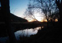río Henares al atrdecer