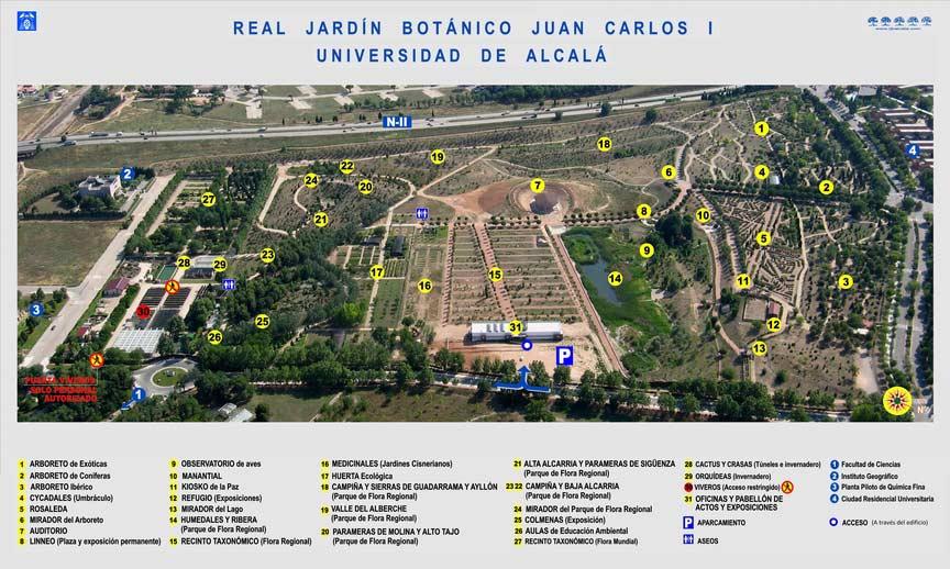 Resultado de imagen de Real Jardín Botánico, Alcalá de Henares (Madrid).