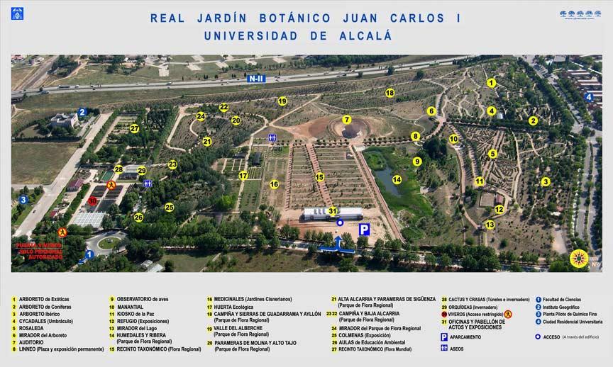 Real jard n bot nico de alcal de henares dream alcal for Cementerio jardin de alcala de henares