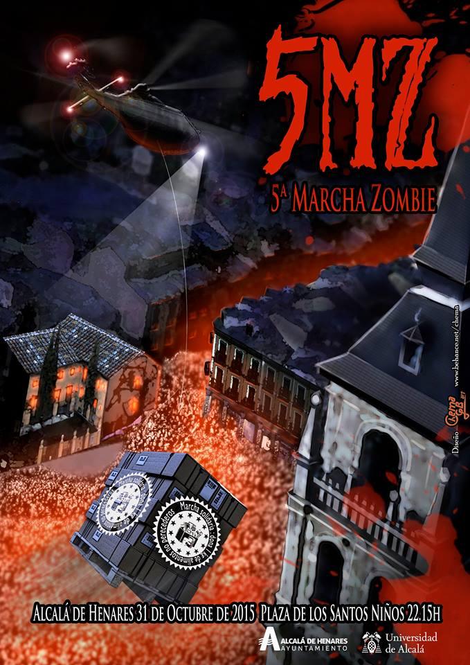 5 Marcha Zombie de Alcalá de Henares cartel