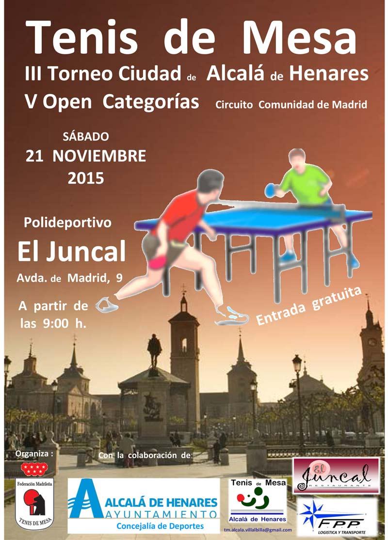 Iii torneo ciudad de alcal de henares de tenis de mesa for Residencia canina alcala de henares