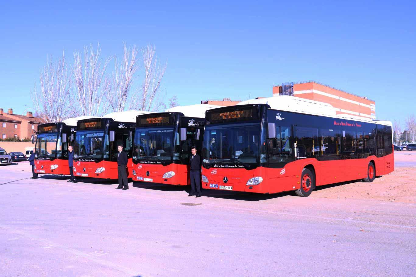 Los nuevos autobuses ecol gicos y silenciosos de alcal for Autobuses alcala de henares