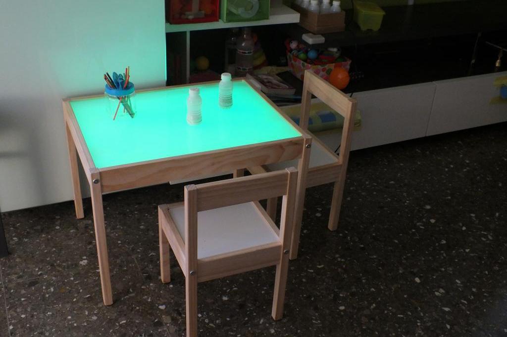 Ni os aprende a hacer en casa una mesa de luz con una for Mesa de ninos ikea