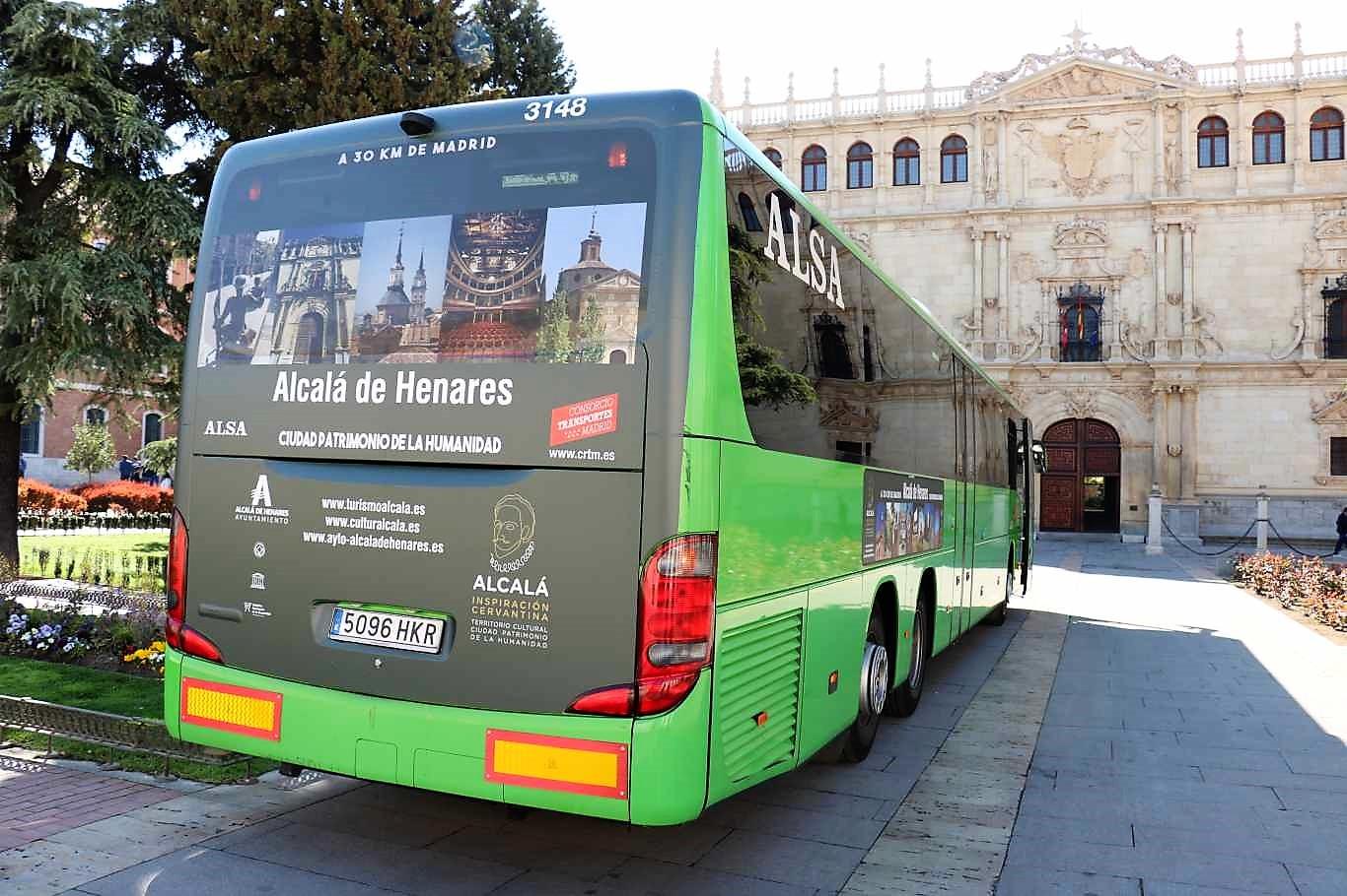 Los autobuses de alsa promocionan el turismo de alcal de for Autobuses alcala de henares