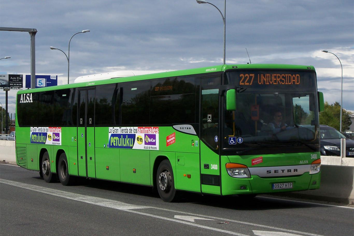 Cambios en el itinerario y las paradas del autob s 227 for Autobuses alcala de henares