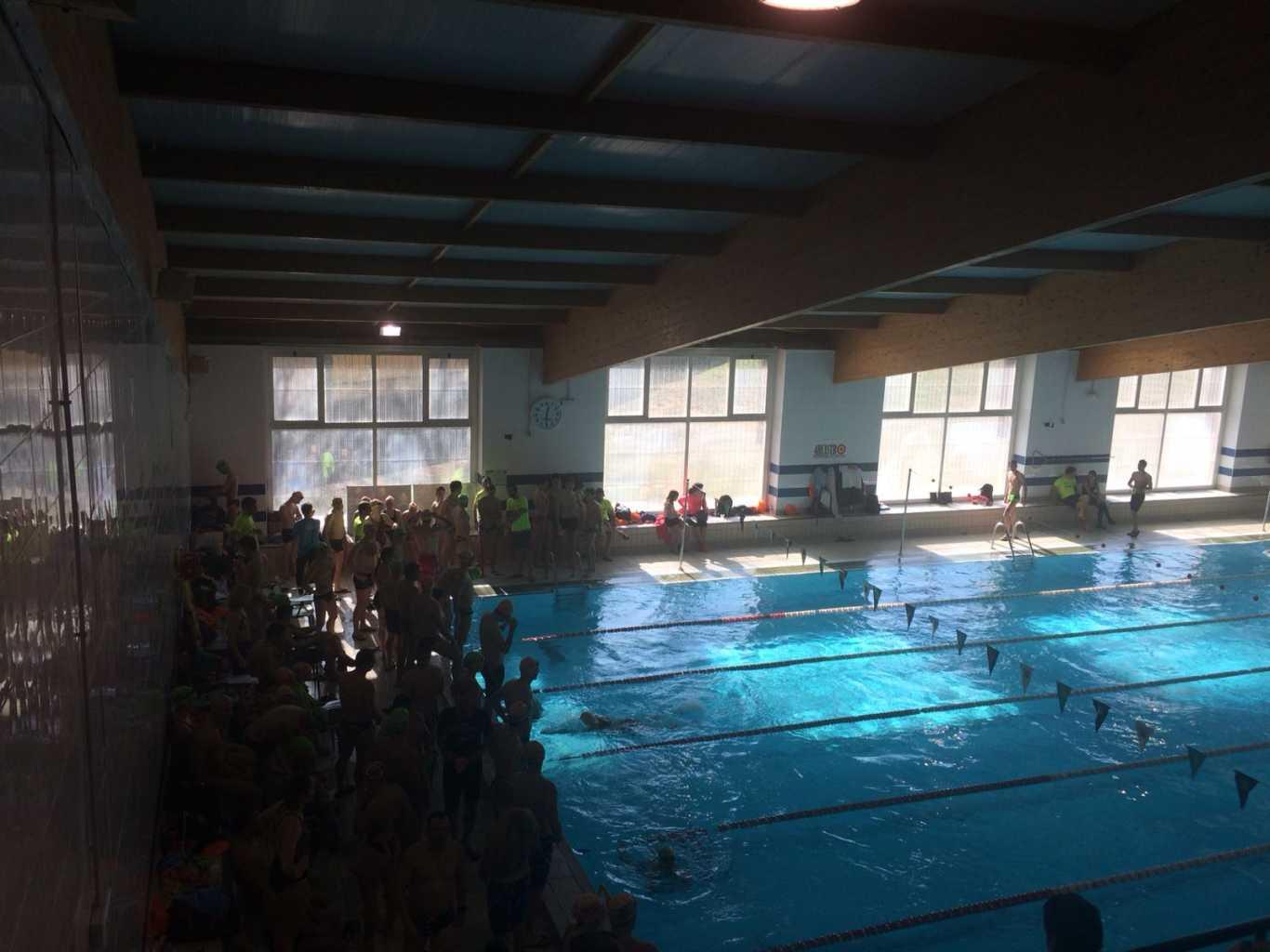 Vencedores del 100x100 de nataci n del kafewake race team for Piscina cubierta alcala de henares