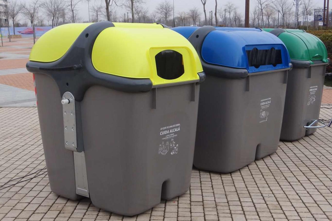 Nuevos contenedores de basura para las calles de alcal de henares dream alcal - Contenedores de basura para reciclaje ...