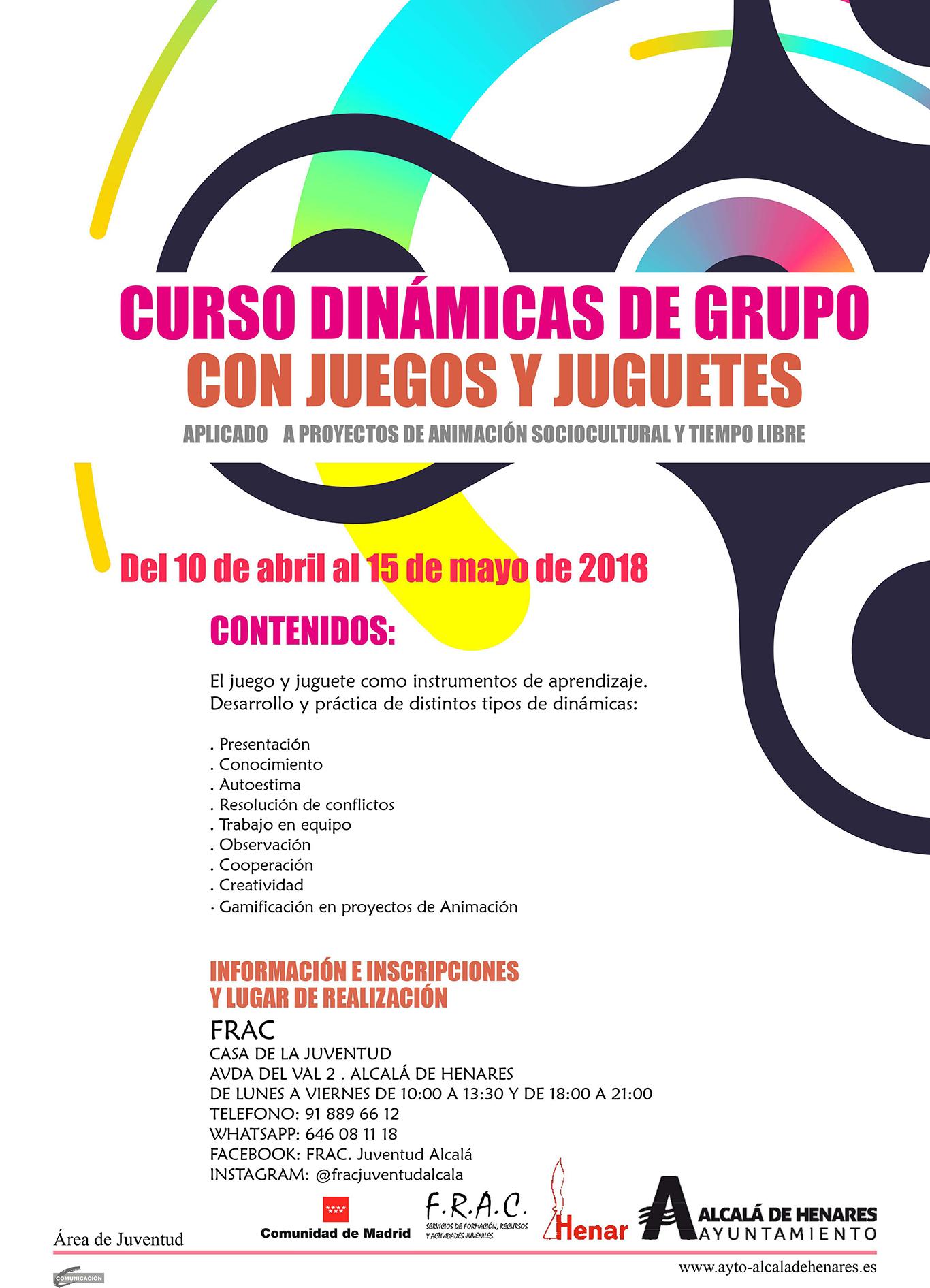 Curso De Dinamicas De Grupo Con Juegos Y Juguetes Dream Alcala