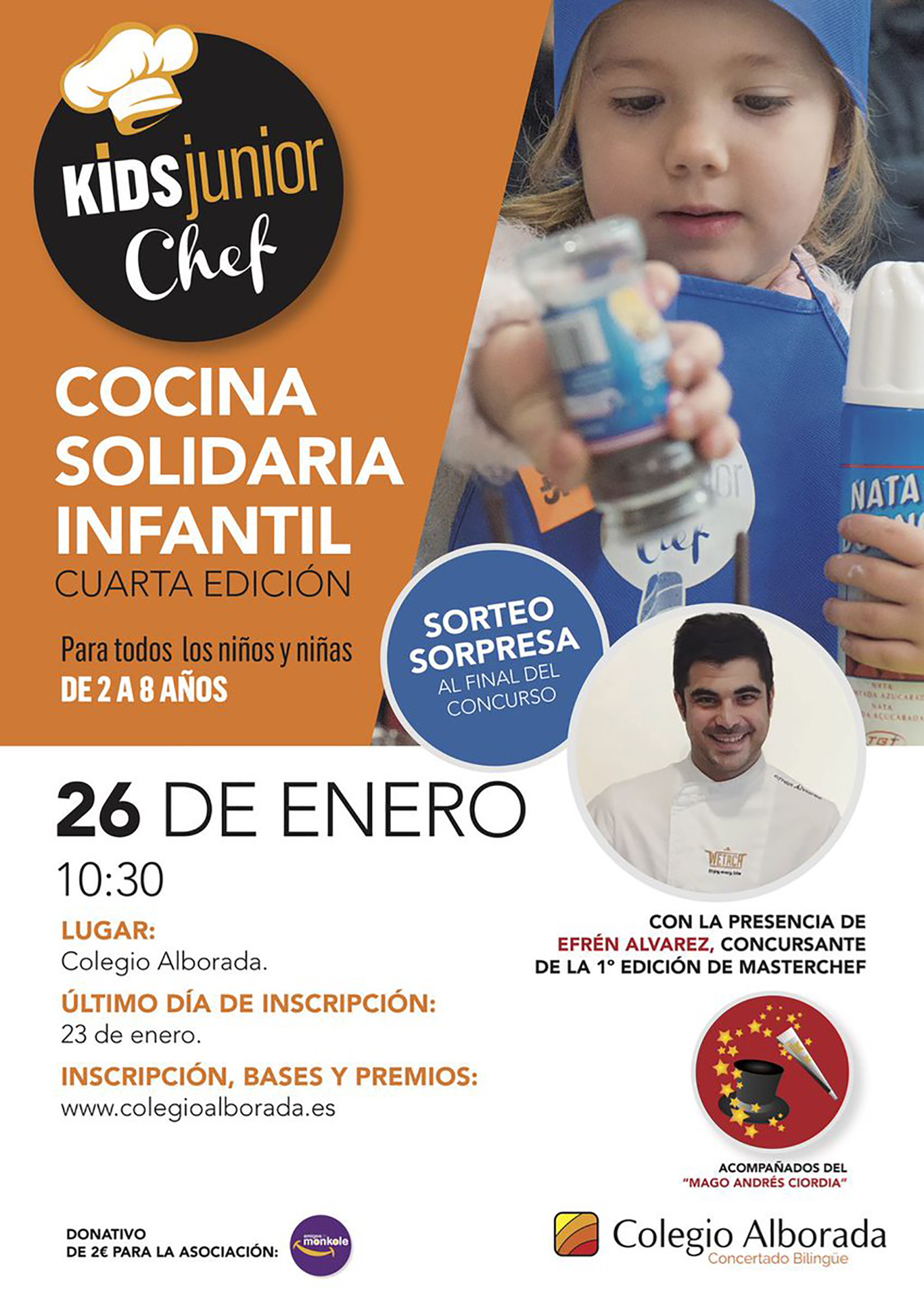 Kids Alcalá Cocina Concurso Alborada Junior De Chef Colegio Del Dream R7OzETFqw