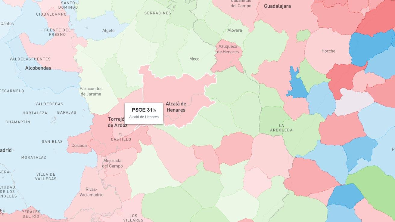 Mapa Alcala De Henares.Alcala Continua Roja Pero Esta Rodeada De Verde Dream Alcala