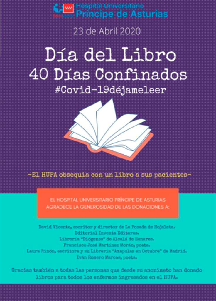 23 De Abril El Hospital De Alcalá Regala Un Libro A Todos Sus Pacientes Dream Alcalá